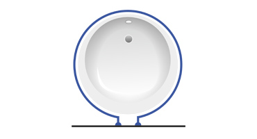 Карниз для ванной круглый